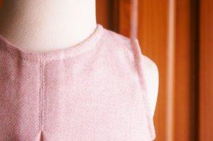 画像2: pre sale【P'tit chic...de Paris】ジャンバースカート・ピンク6ヶ月〜2歳