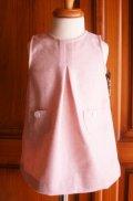 pre sale【P'tit chic...de Paris】ジャンバースカート・ピンク6ヶ月〜2歳